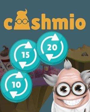 Spela gratis och behåll vinsten med free spins hos Cashmio Casino