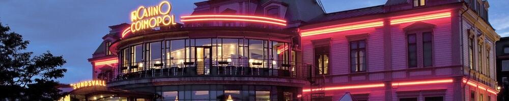 Svenskt Casino Cosmopol Sundsvall med restaurang Casiopeija