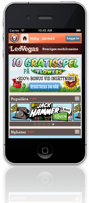 Spela mobilt med LeoVegas Casino