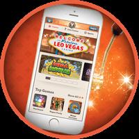 Spela slots och casino i mobilen med free spins hos LeoVegas Casino