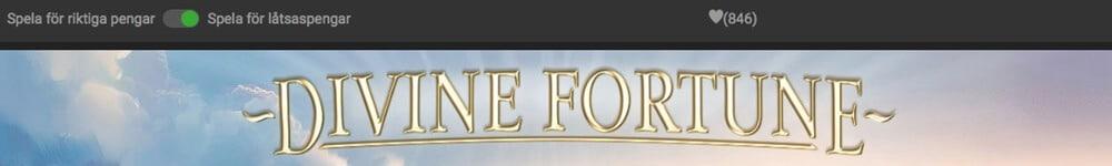 Spela gratis casino Divine Fortune slot med bonus och free spins