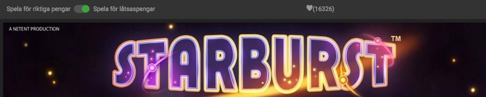 Spela Starburst slot gratis med bonus eller free spins