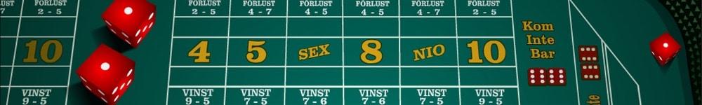 Craps bonus hos Unibet casino