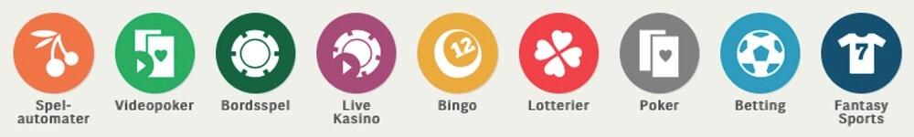 Poker, slots, spelautomater, live casino, bonus, free spins hos Paf Casino!