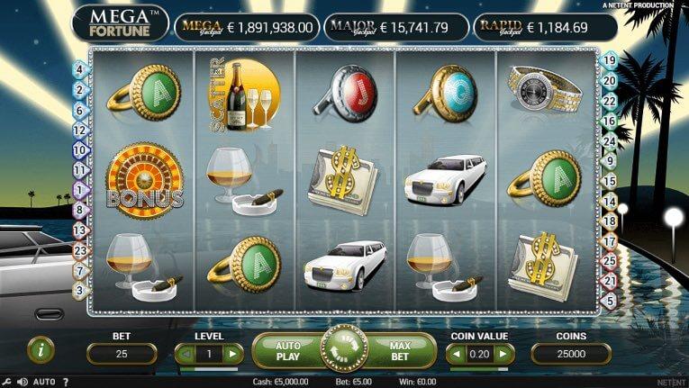 Testa den progressiva jackpotslotten Mega Fortune!