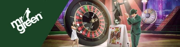 Spela slots och bordsspel hos Mr Green casino