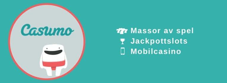 Casumo mobilcasino med jackpots