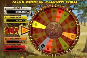 Mega Moolah jackpothjul