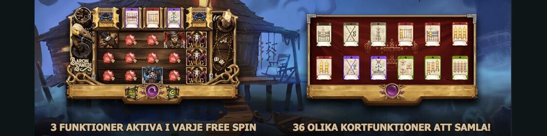 Baron Samedi har free spins och bonus