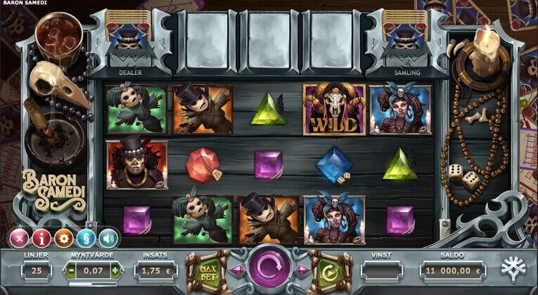 Spela Baron Samedi gratis i mobilen