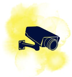 Övervakningskamera hos casino