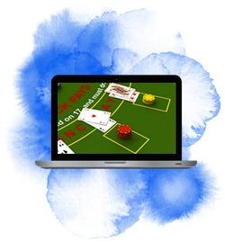 Spelar blackjack online i datorn